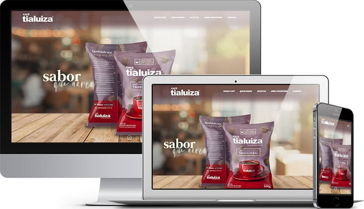Café Tia Luiza • Site Institucional